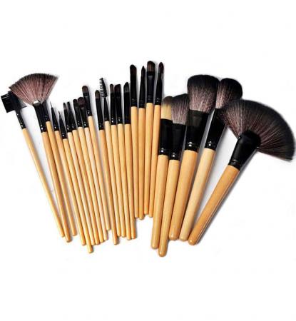 Set de 24 Pensule Profesionale din par natural, Top Quality Golden Lights1
