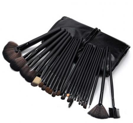 Set de 24 Pensule Profesionale din par natural Top Quality Hair, Black2