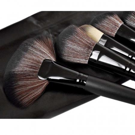 Set de 24 Pensule Profesionale din par natural Top Quality Hair, Black7