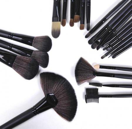 Set de 24 Pensule Profesionale din par natural Top Quality Hair, Black5