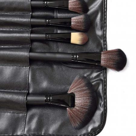 Set de 24 Pensule Profesionale din par natural Top Quality Hair, Black4