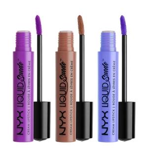 Set De 3 Rujuri Lichide Mate Nyx Professional Makeup Liquid Suede Cream - 051