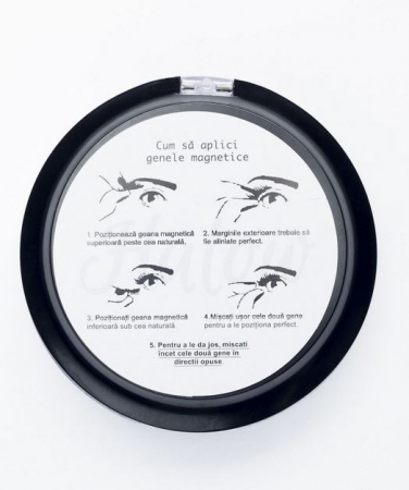 Set Gene False cu prindere magnetica in 3 magneti, Black Diamond, Eyelash 0292