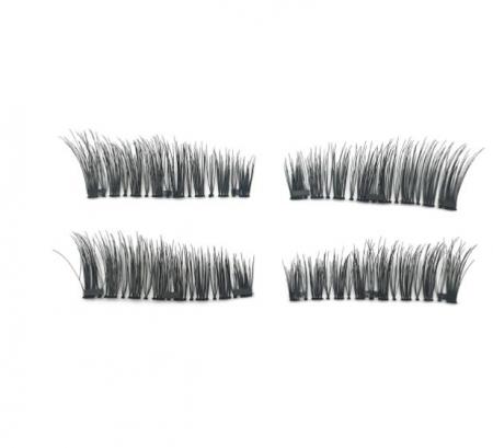 Set Gene False Profesionale cu prindere magnetica in 3 magneti, Reutilizabile, Negru intens, Eyelash 011
