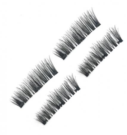 Set Gene False Profesionale cu prindere magnetica in 3 magneti, Reutilizabile, Negru intens, Eyelash 01