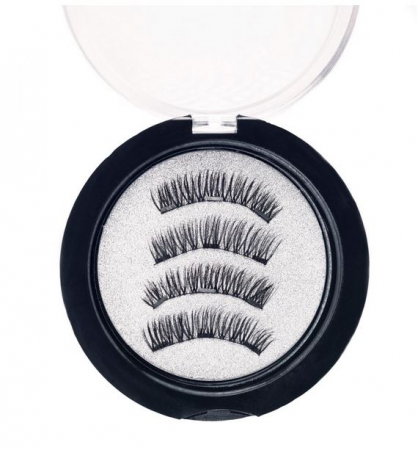 Set Gene False cu prindere magnetica in 3 magneti, Black Diamond, Eyelash 0294