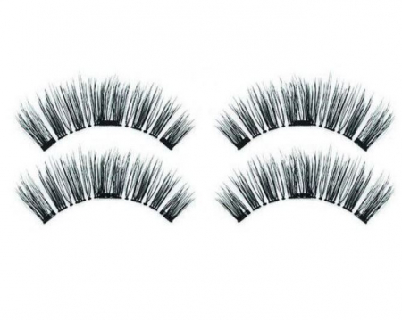 Set Gene False cu prindere magnetica in 3 magneti, Black Diamond, Eyelash 0290