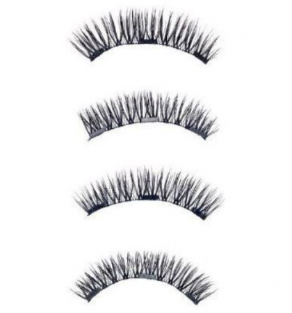 Set Gene False cu prindere magnetica in 3 magneti, Black Diamond, Eyelash 0293