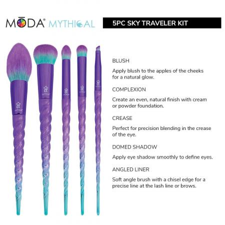 Set 5 pensule profesionale Royal & Langnickel MODA Mythical Kit, Sky Traveler1