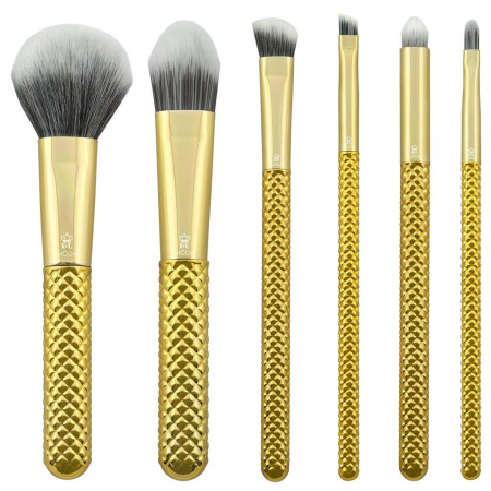Set pensule profesionale Royal & Langnickel MODA Metallics Total Face Flip Kit, 7 piese, Gold