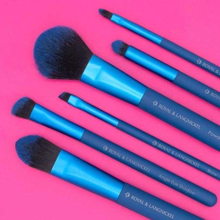 Set pensule profesionale Royal & Langnickel MODA Total Face Flip Kit, 7 piese, Blue7