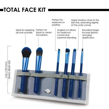 Set pensule profesionale Royal & Langnickel MODA Total Face Flip Kit, 7 piese, Blue5