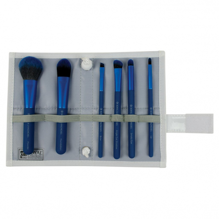 Set pensule profesionale Royal & Langnickel MODA Total Face Flip Kit, 7 piese, Blue2