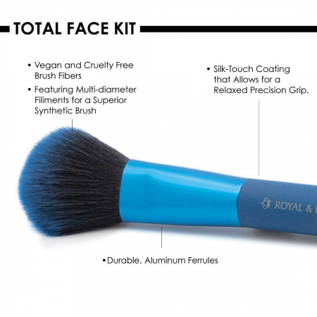 Set pensule profesionale Royal & Langnickel MODA Total Face Flip Kit, 7 piese, Blue4