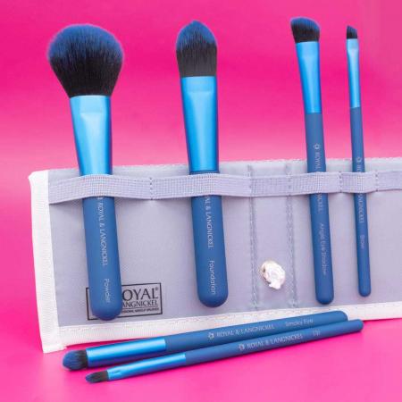 Set pensule profesionale Royal & Langnickel MODA Total Face Flip Kit, 7 piese, Blue6