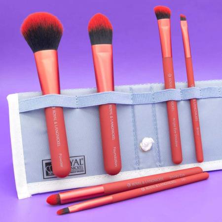 Set pensule profesionale Royal & Langnickel MODA Total Face Flip Kit, 7 piese, Red6