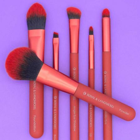 Set pensule profesionale Royal & Langnickel MODA Total Face Flip Kit, 7 piese, Red5