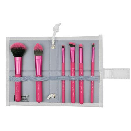 Set pensule profesionale Royal & Langnickel MODA Total Face Flip Kit, 7 piese, Pink4
