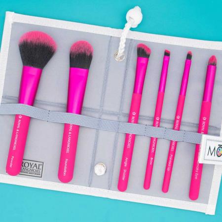 Set pensule profesionale Royal & Langnickel MODA Total Face Flip Kit, 7 piese, Pink6
