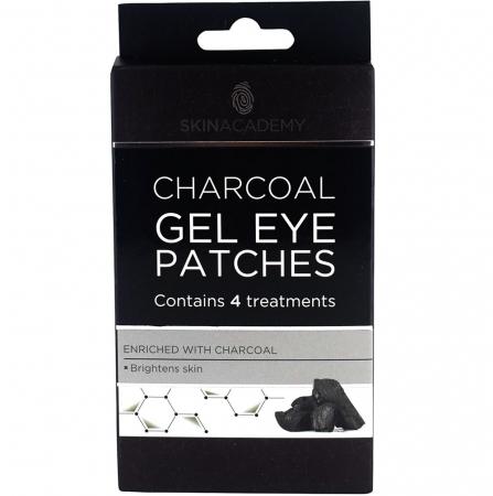 Set Plasturi Tratament pentru ochicu Carbune Activ SKIN ACADEMY Gel Eye Patches, 4 seturi (8 plasturi)1