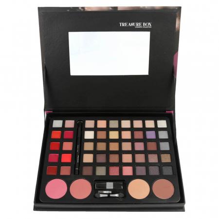 Set profesional pentru machiaj TREASURE BOX, Profusion Cosmetic Collection, 53 piese, Pink1