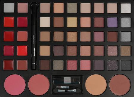 Set profesional pentru machiaj TREASURE BOX, Profusion Cosmetic Collection, 53 piese, Pink2