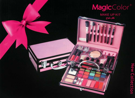 Valiza Profesionala Machiaj, Multifunctionala, Magic Color Makeup Kit, Pink Secret5
