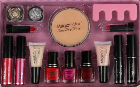 Valiza Profesionala Machiaj, Multifunctionala, Magic Color Makeup Kit, Pink Secret2