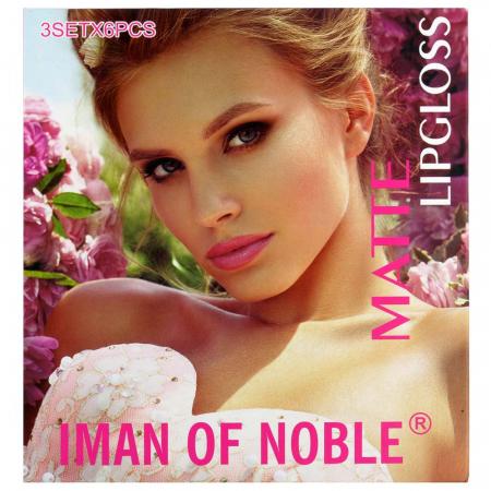 Set Cadou Rujuri Lichide Mate Iman Of Noble Lip Set, 18 Culori1