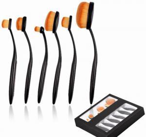 Set 6 Pensule Ovale Profesionale pentru makeup Luxury Edition - Black0