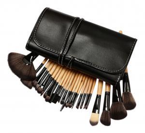 Set de 24 Pensule Profesionale pentru machiaj din par natural, Top Quality Natural Wood0