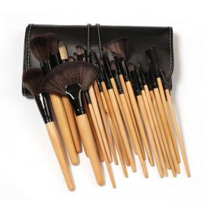 Set de 24 Pensule Profesionale pentru machiaj din par natural, Top Quality Natural Wood2