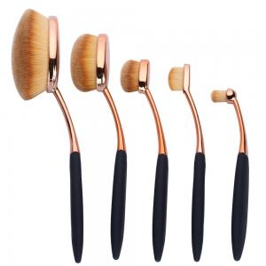 Set 5 Pensule Ovale Profesionale ROYAL Flawless Finish Collection0
