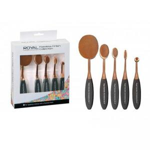 Set 5 Pensule Ovale Profesionale ROYAL Flawless Finish Collection1
