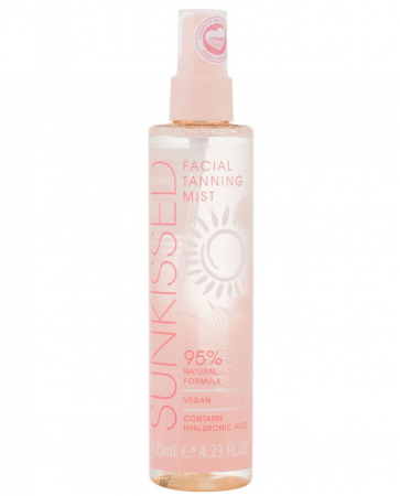 Spray Autobronzant Profesional pentru ten SUNKISSED cu Acid Hialuronic, 95% Ingrediente Naturale, Medium-Dark, 125 ml