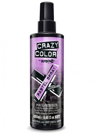 Spray colorant pentru parul blond, CRAZY COLOR Pastel Spray Lavender, 250 ml