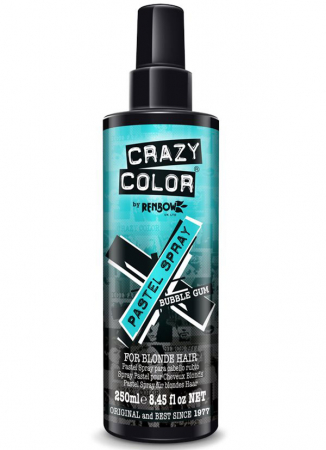 Spray colorant pentru parul blond, CRAZY COLOR Pastel Spray Bubble Gum, 250 ml