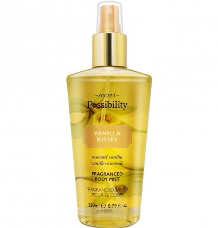 Spray parfumat pentru corp cu vanilie orientala Secret Possibility Vanilla Kisses, 250 ml