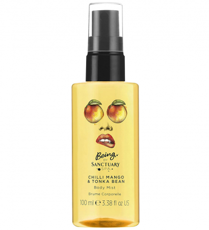 Spray pentru Corp Being by SANCTUARY SPA cu Mango, Chilli si Boabe Tonka, 100 ml