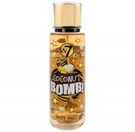 Spray Pentru Corp cu aroma de cocos W7 Coconut Bomb! Body Mist, 250 ml