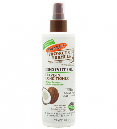 Spray fara clatire pentru par deteriorat PALMER'S Coconut Oil Formula, Leave-in Conditioner, Vitamina E, 250 ml