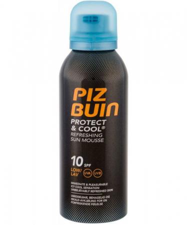 Spuma racoritoare cu protectie solara UVA/UVB, PIZ BUIN Protect & Cool, SPF10, 150 ml