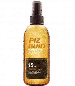 Spray Protectie Solara Piz Buin Wet Skin 150ml cu SPF 15