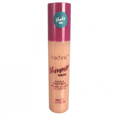 Spray Stralucitor Pentru Fata Si Corp Technic Shimmer Skin Face & Body Mist, Sunrise, 80 ml