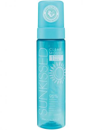 Spuma Autobronzanta Profesionala SUNKISSED Clear, 95% Ingrediente Naturale, Ocean Edition, 1Hour Tan, 200 ml0