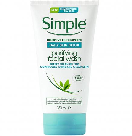 Lotiune de curatare pentru ten gras Simple Daily DETOX Purifying, cu cimbru si zinc, 150 ml