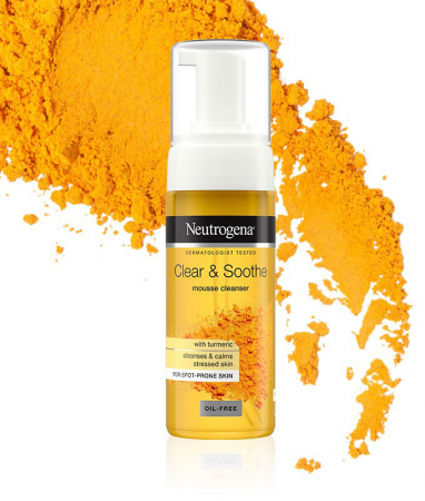 Spuma de curatare cu Turmeric pentru ten sensibil, acneic NEUTROGENA Clear & Soothe, 150 ml1