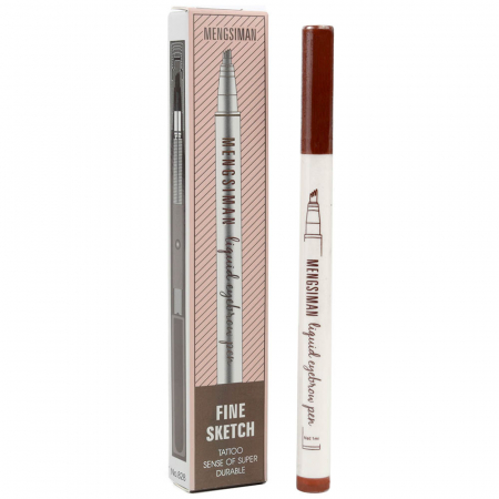 Stilou tatuaj pentru sprancene Mengsiman Fine Sketch, Waterproof, 03 Brown