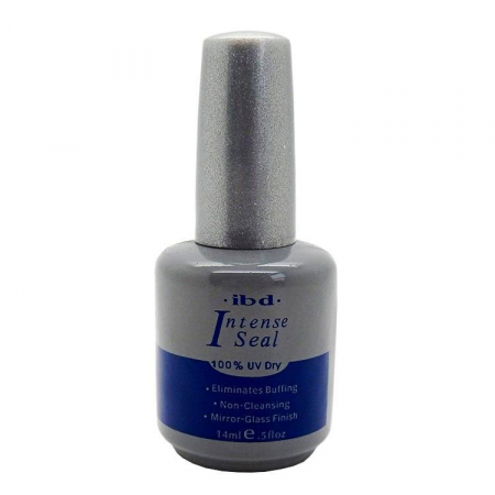 Top coat luciu si fixare Ibd Intense Seal 100% UV Dry pentru oja semipermanenta sau gel UV, 14 ml