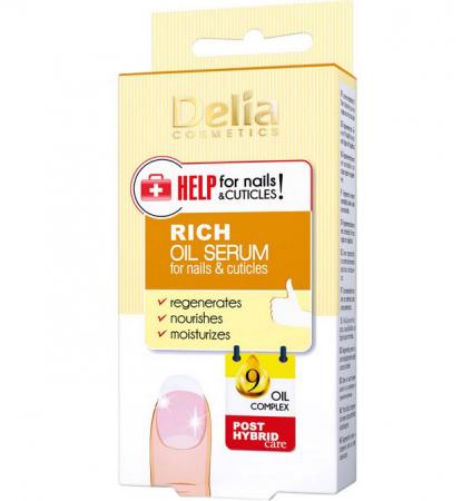 Ser imbogatit cu uleiuri pentru unghii si cuticule, Delia Cosmetics Help for Nails & Cuticles, 11 ml